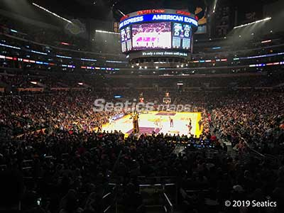 Los Angeles Lakers Seat View at staples center section 115