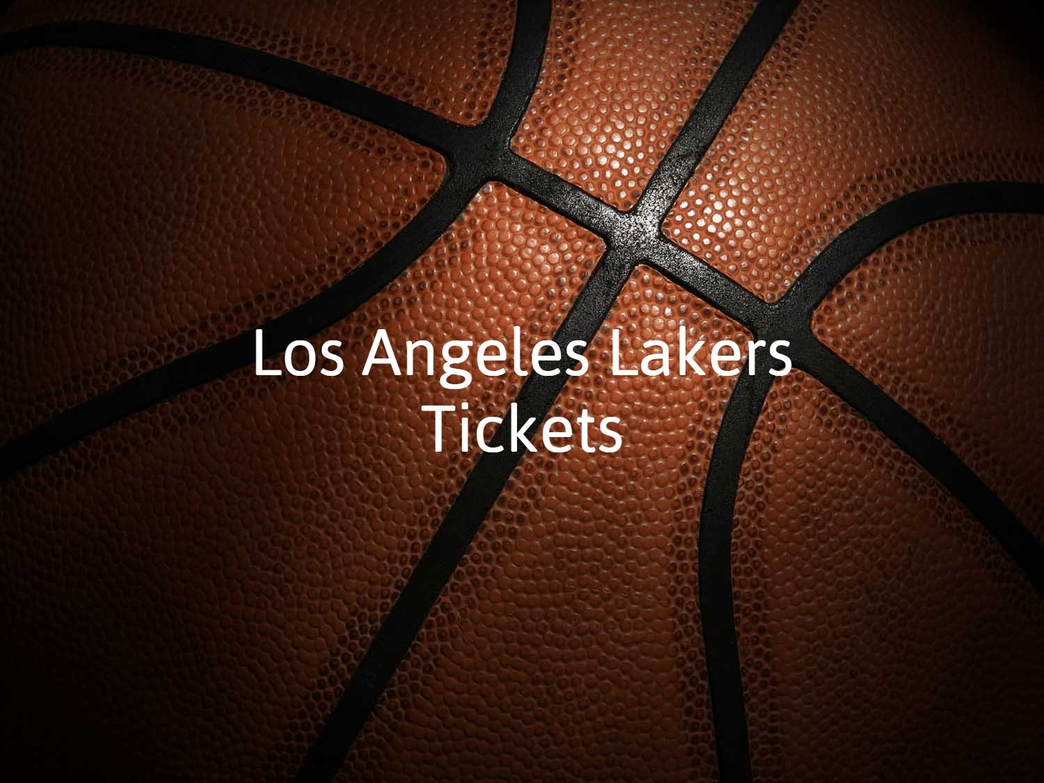 Los Angeles Lakers TIckets